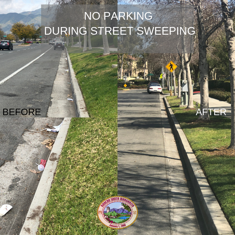 View of city streets with litter and without