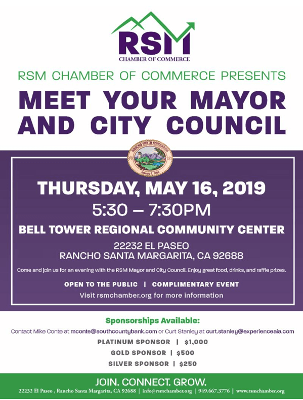 Meet the Mayor and City Council flyer announcement