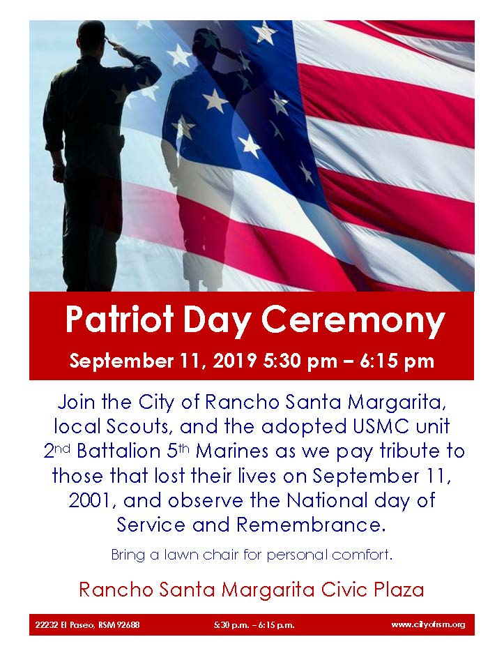 2019 Patriot Day Flyer