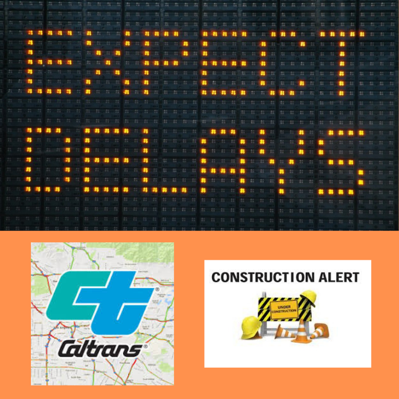 Caltrans Construction Alert graphic