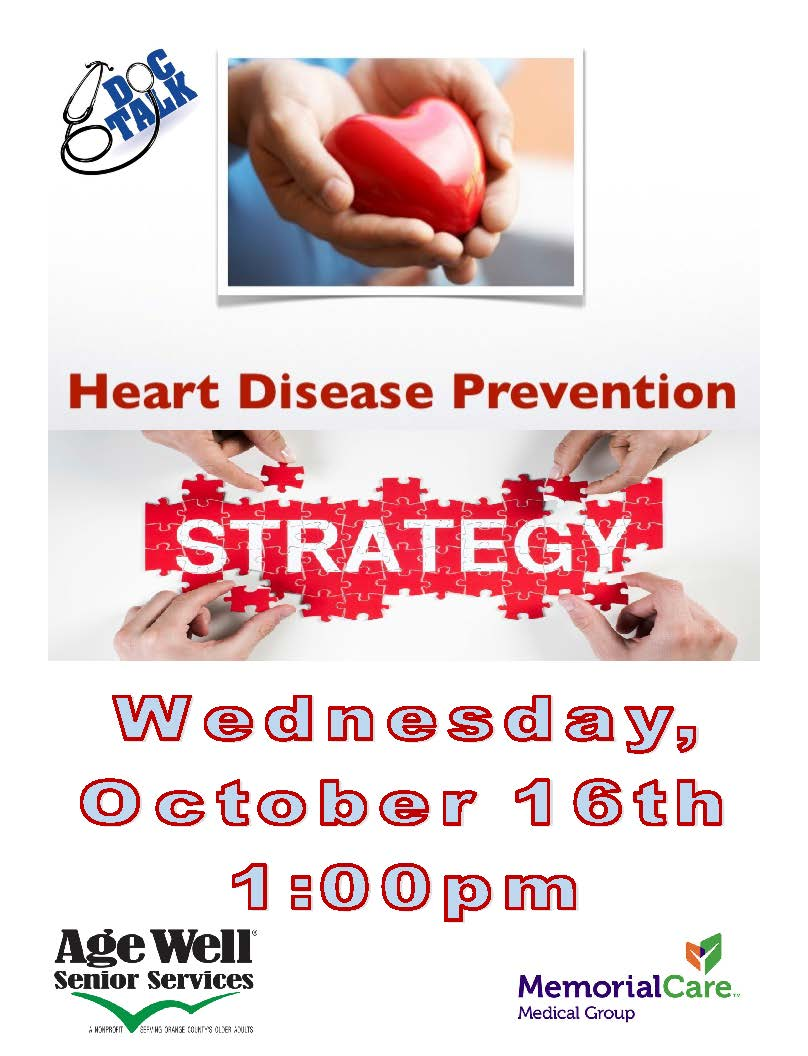 Heart Disease Prevention Strategies Flyer