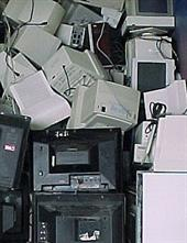 Stack of computers