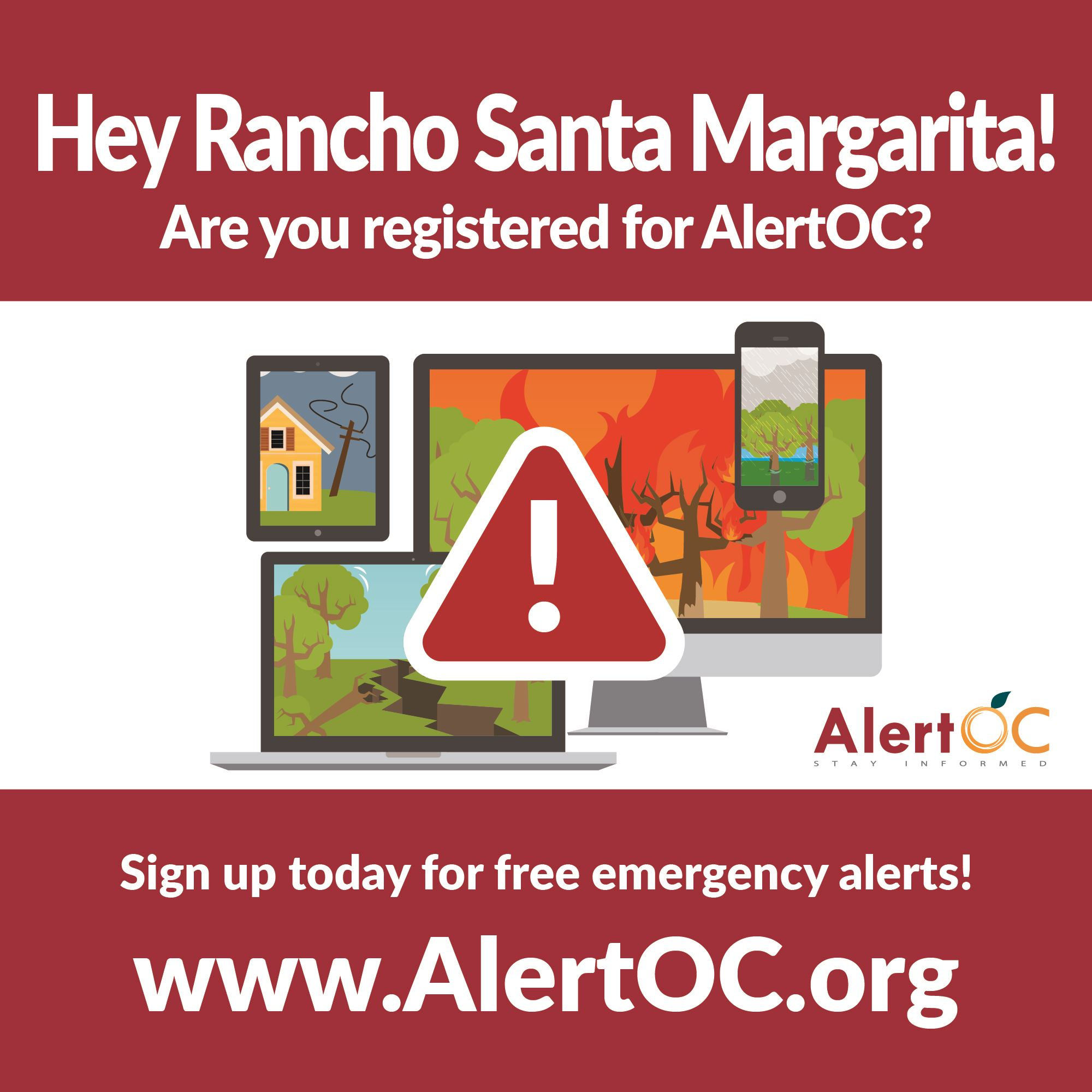 Rancho Santa Margarita AlertOC graphic