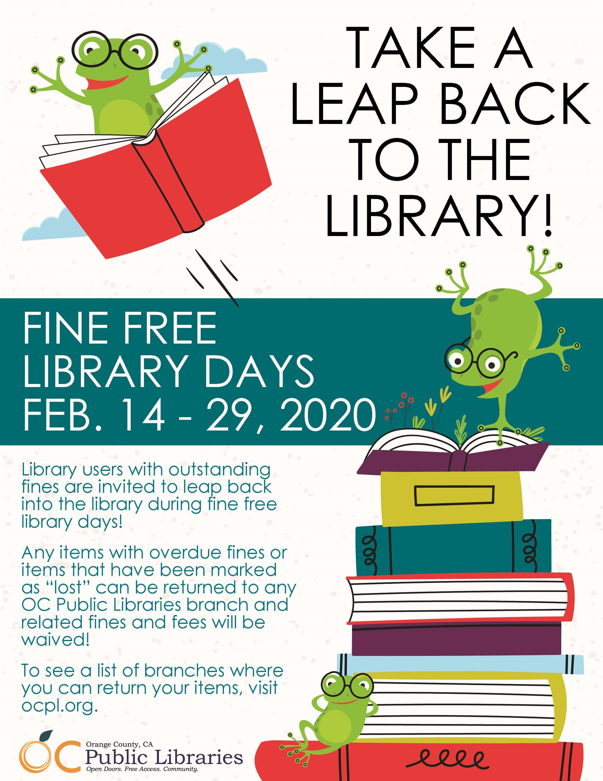 Fine Free Flyer 2020 OC Library