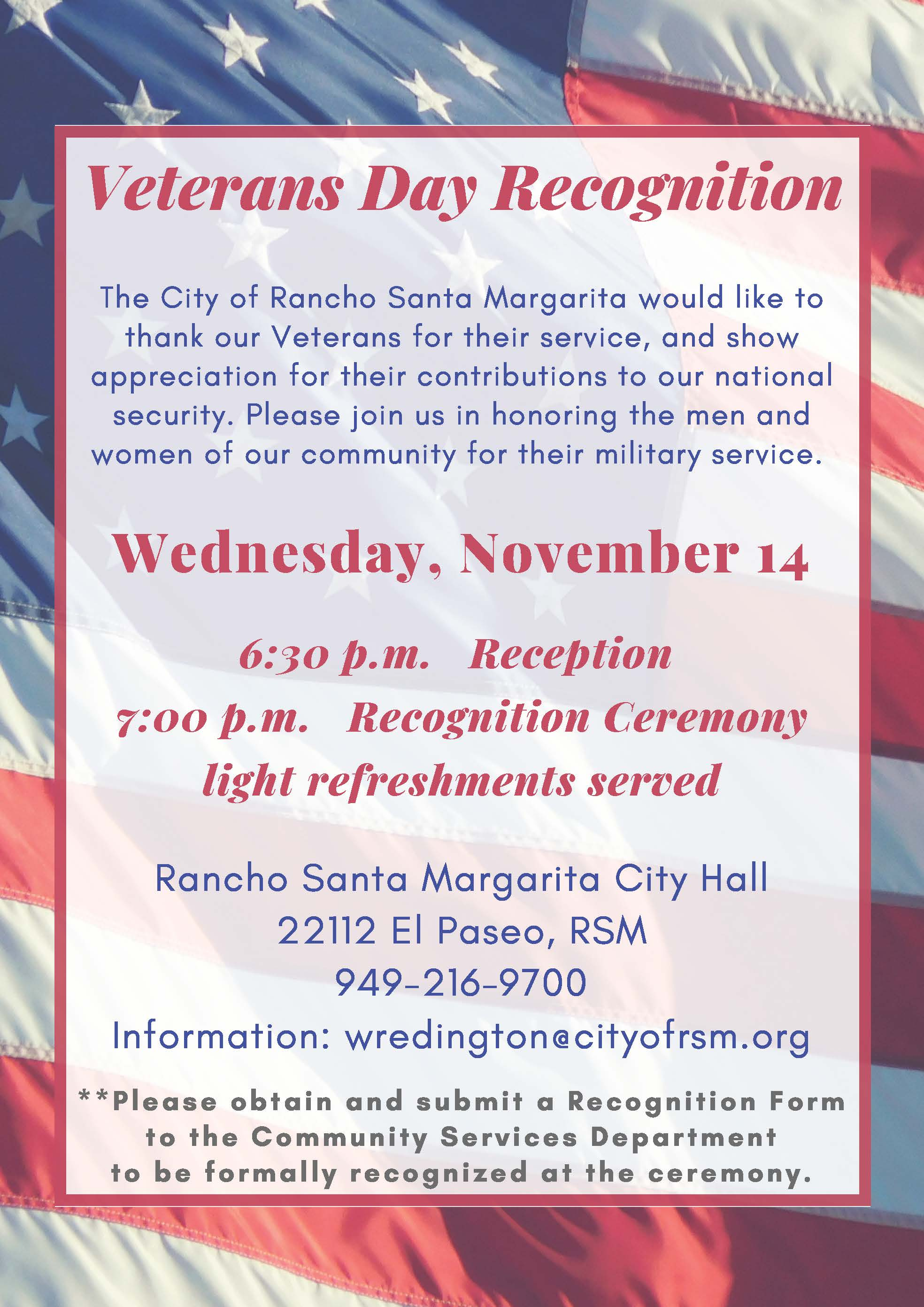 Veterans Day 2018 FLYER