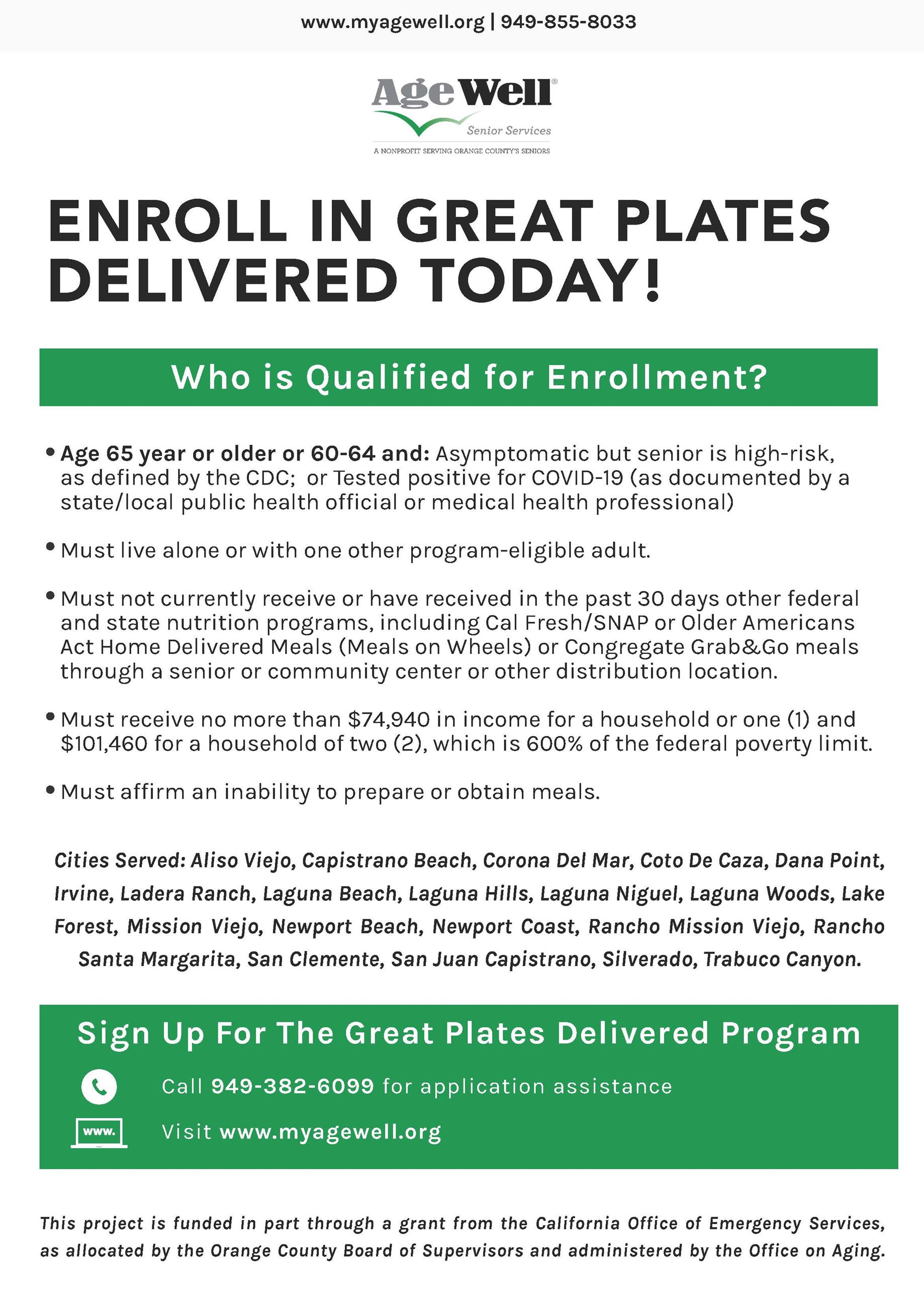 Great Plates Delivered Qualifications