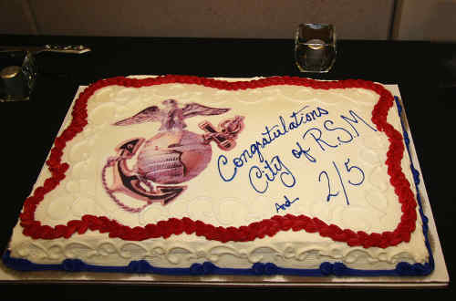 Congratulations City of Rancho Santa Margarita and 2/5 cake