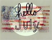 Hello July graphic