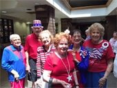 Seniors in patriotic attire