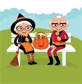 Seniors at Halloween