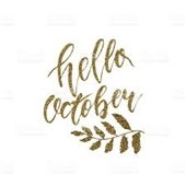 Hello October graphic
