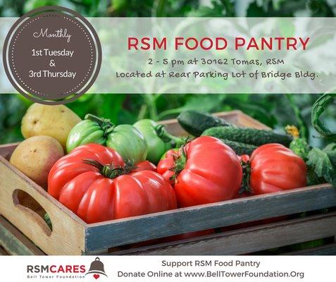 RSM Cares Food Pantry