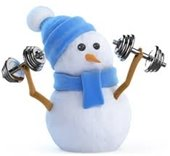 Snowman exercising