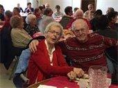 Seniors enjoying Valentine lunch