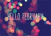 Hello February graphic