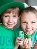 Children wearing green