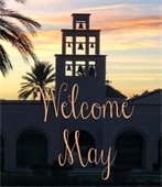 Welcome May graphic