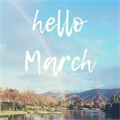Hello March graphic