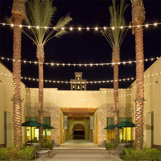 City Hall/Bell Tower Community Center at night