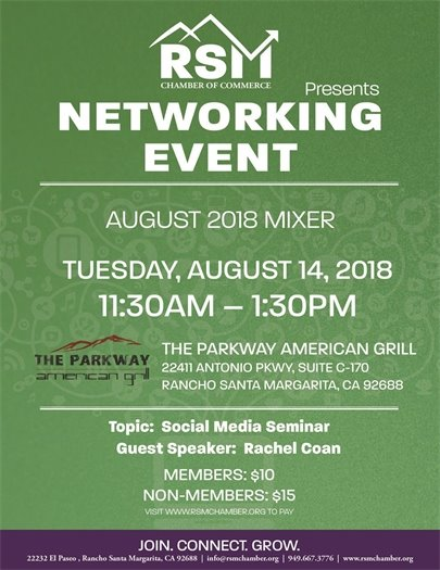 RSM Chamber of Commerce mixer information