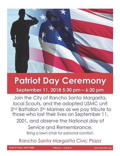 Patriot Day flyer 2018