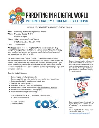 Parenting In a Digital World flyer