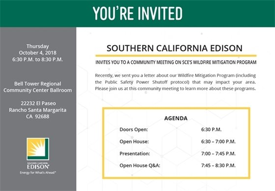 Wildfire Mitigation Program meeting