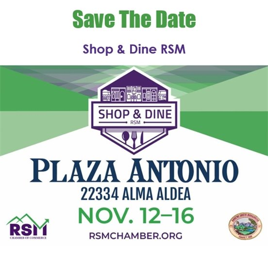 RSM Chamber Shop and Dine save the date