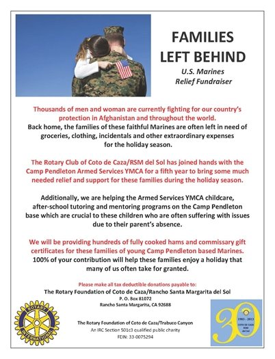 Families Left Behind flyer