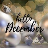 hello December graphic