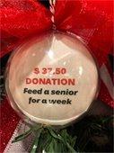 Senior donation ornament