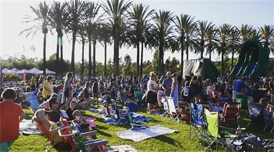 Crowd enjoying Rancho Family Fest