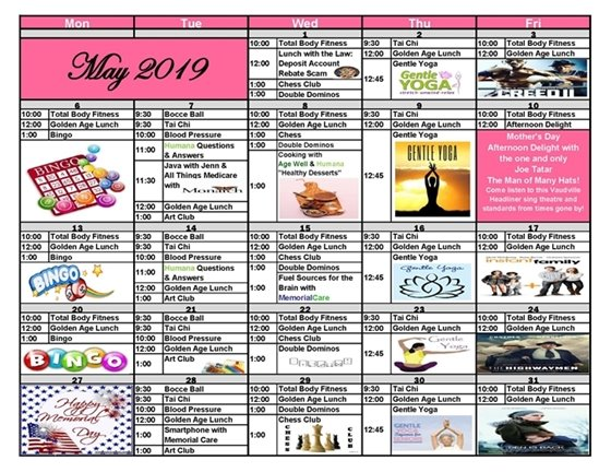 Age Well Senior Services May Calendar