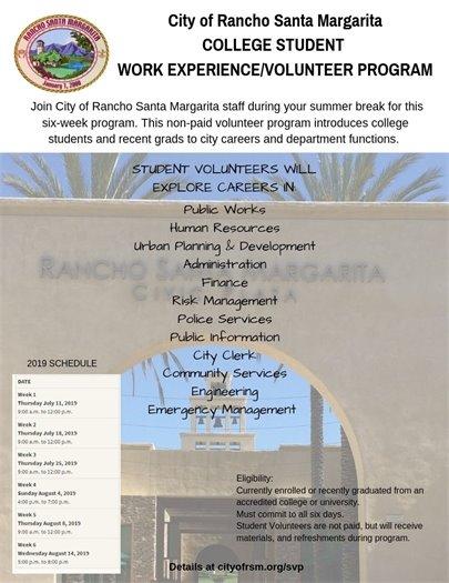 College Student Work Experience Program
