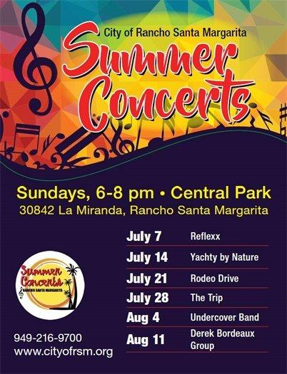 City of RSM Summer Concert flyer