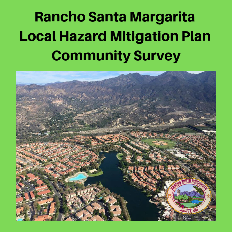 Rancho Santa Margarita Local Hazard Mitigation Plan Community Survey graphic