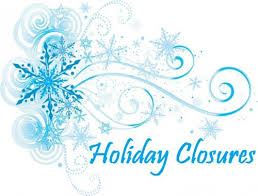 Holiday Closures graphic
