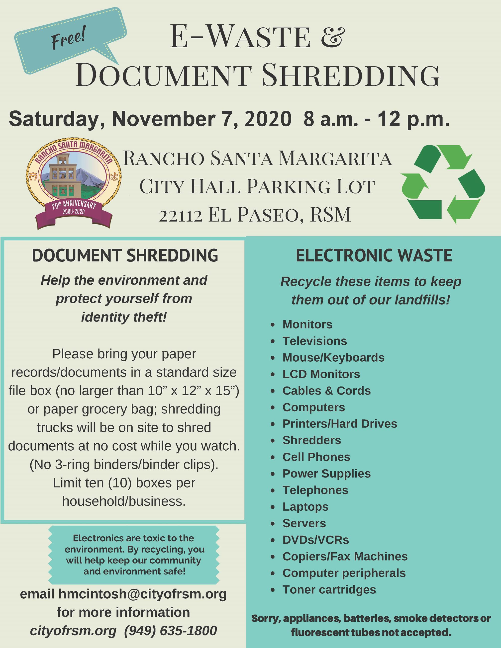 11072020 E Waste and Document Shredding Flyer
