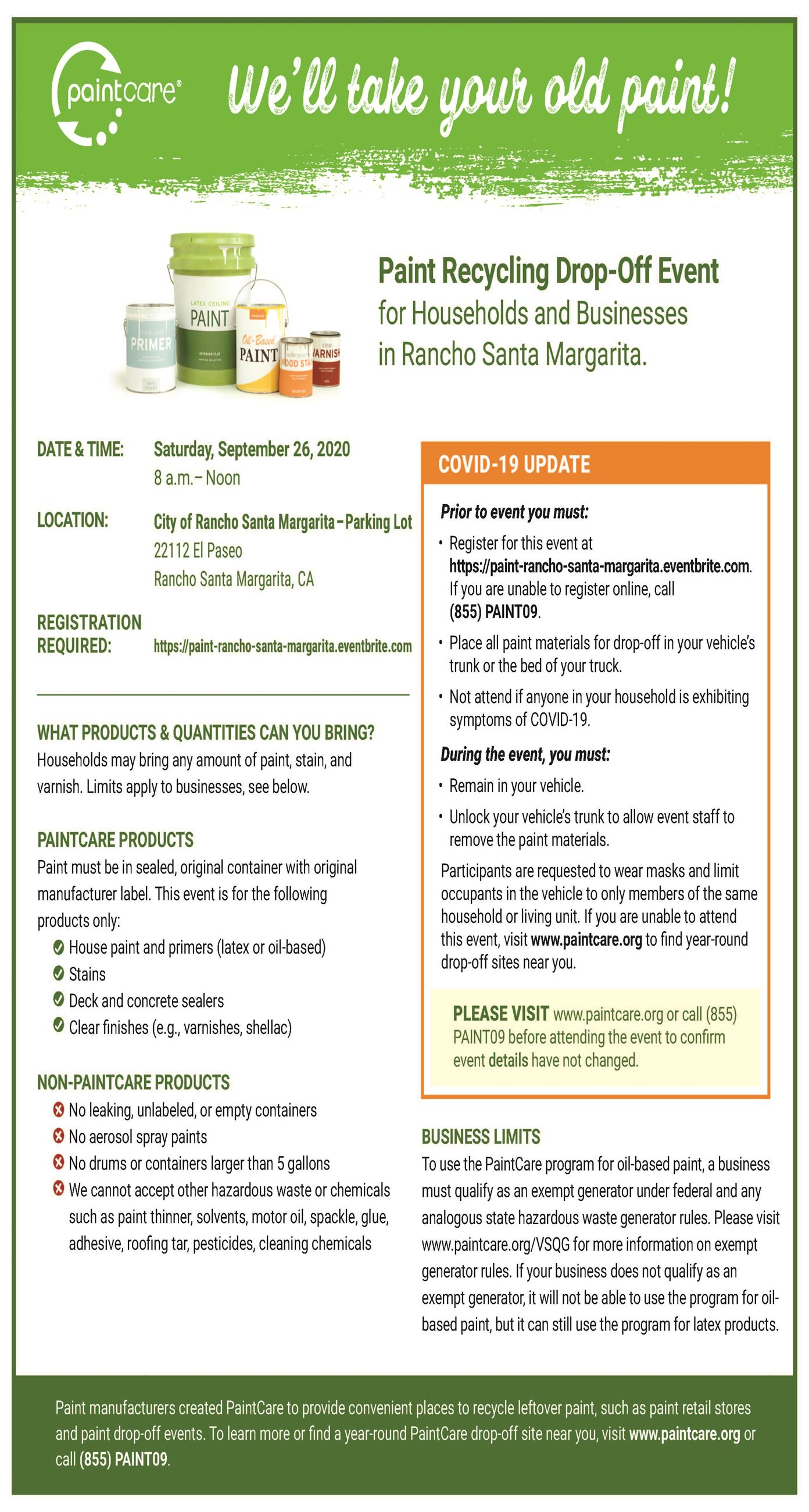 Paint Recycle Flyer 092620