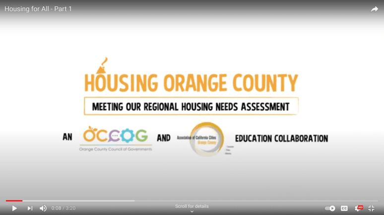 Housing Orange County Video Part One Graphic