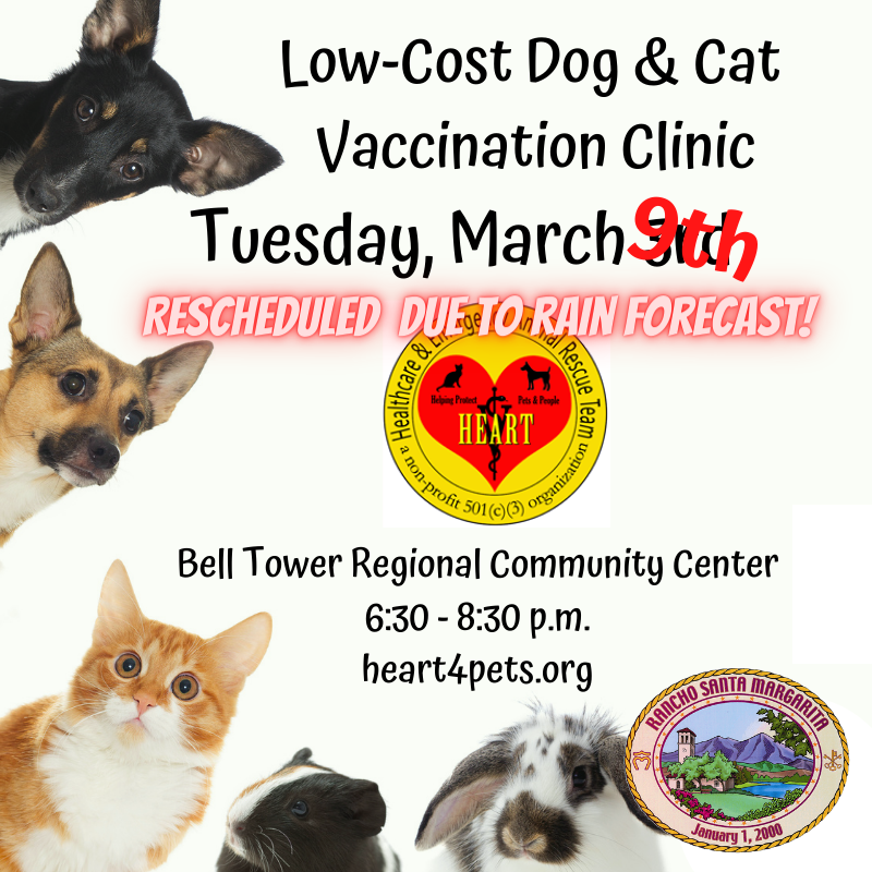 Low-Cost Pet Vaccination Clinic 03092021